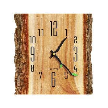 Grande horloge murale bois tous les chiffres