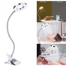 USB круг макияж тату светодиодный настольная лампа для бровей губ тату салон красоты лампа для чтения дизайн ногтей тату макияж клип настольные светильники