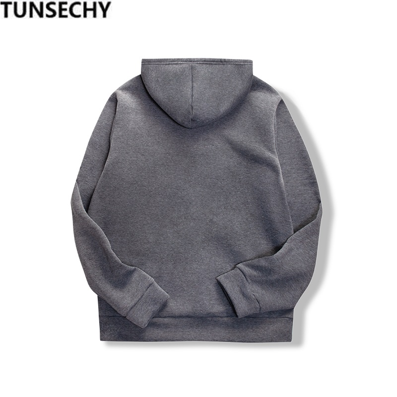 19 women's long-sleeved plain hooded sweatshirt plain multi-color men's and women's casual pullover hoodie 11