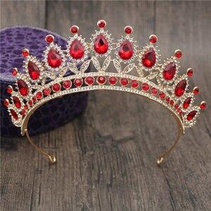 Великолепные розовые хрустальные повязки на голову, королевские тиары и короны, свадебные повязки на голову для девочек, вечерние свадебные украшения для волос, аксессуары