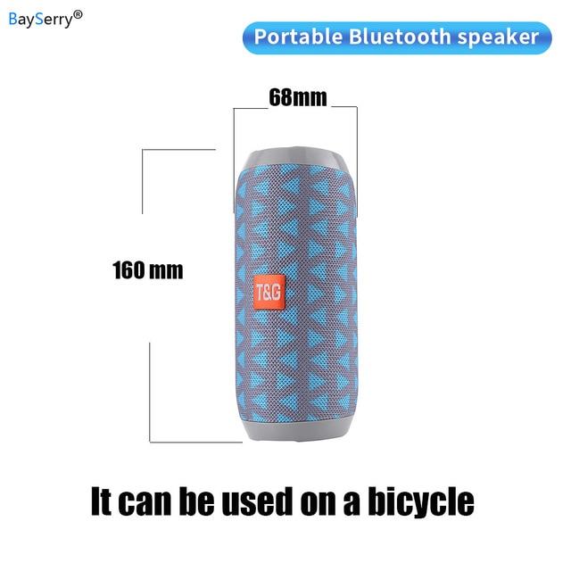10W haute puissance TG117 extérieur étanche Portable stéréo sans fil Bluetooth haut parleur voiture subwoofer haut parleur FM Radio TFCard AUX