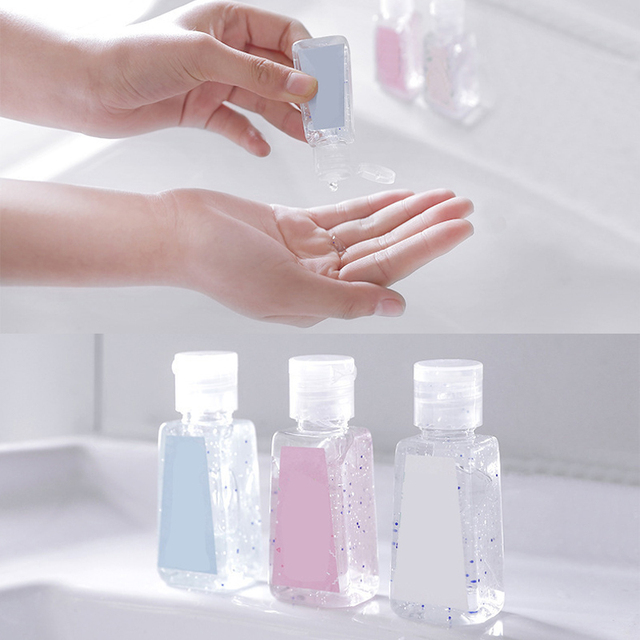 3PC Free Hand Sanitizer 30ml/40ml Gel 75% Alcohol Mild Quick Drying Remover Portable Daily Cleaner Cleaning Health Care 4