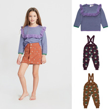 Kids Sweater Overall Knitted-Pants Toddler Girls Cotton Children New Spring Brand Ruffles
