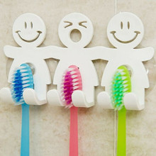 Toothbrush Towel Holder Wall Monted Bathroom Hanging Suction Cup Stand Hook Set L0905