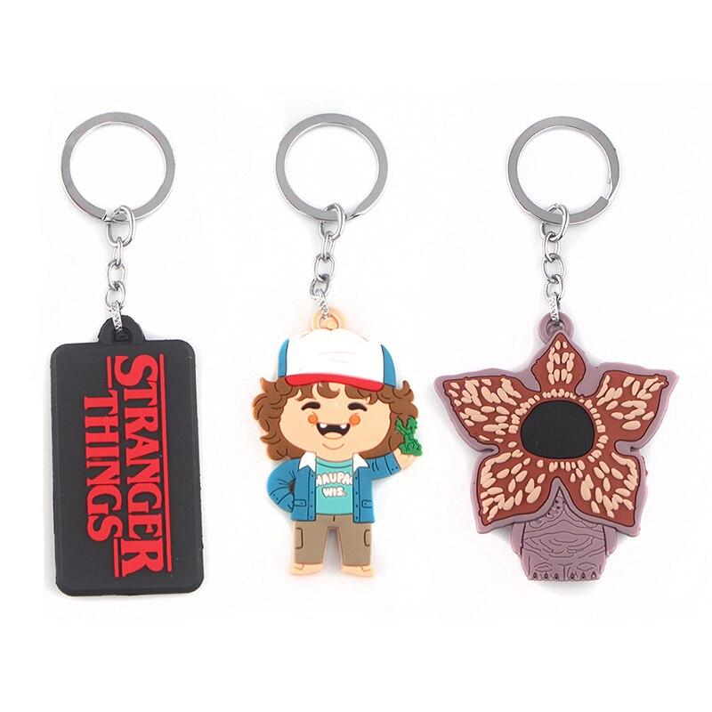 Stranger Things Cosplay Keychain Prop Eleven Demogorgon Key Ring TV Show Lovely Silica Gel Keyring