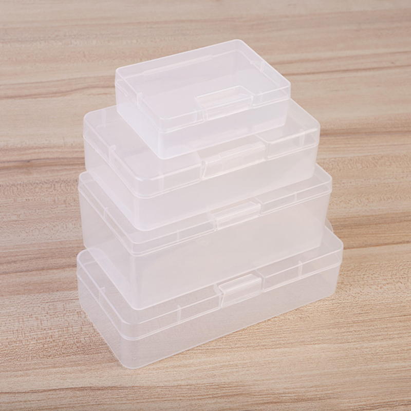 Plastic Transparent Storage Business Card Tiny Stationery Box Collection Container Organizer