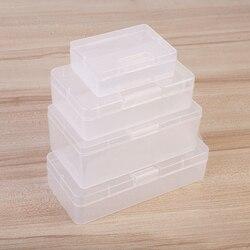 Z tworzywa sztucznego przezroczyste pudełko do przechowywania wizytówki małe pudełko na artykuły biurowe kolekcja pojemnik organizator