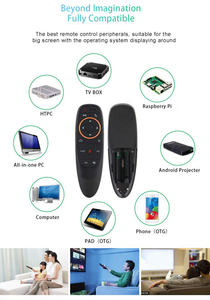 Image 5 - G10 에어 마우스 2.4GHz 무선 음성 원격 제어 IR 학습 6 축 자이로 스코프 지원 Google Assistant Voice Search For TV BOX