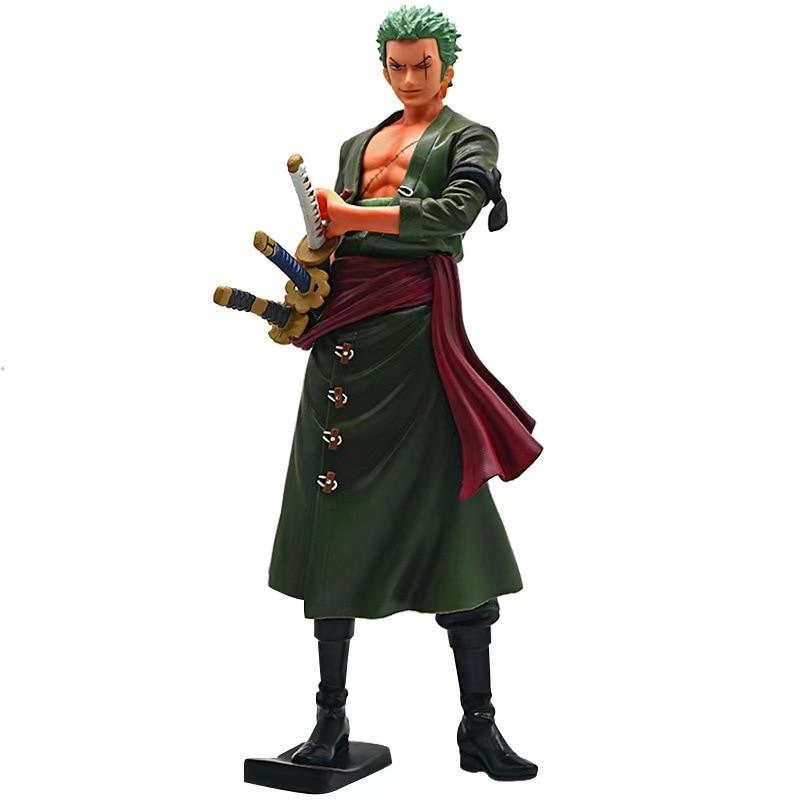 Een Stuk 18Cm Anime Figuur Roronoa Zoro Drie-Blade Sa Maximale Manga Anime Standbeeld Pvc Action Figure Collection model Gift Speelgoed