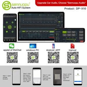 Image 4 - Sennuopu רכב DSP מגבר 8 ערוצים אקולייזר מעבד USB נגן עם LCD מרחוק בקר