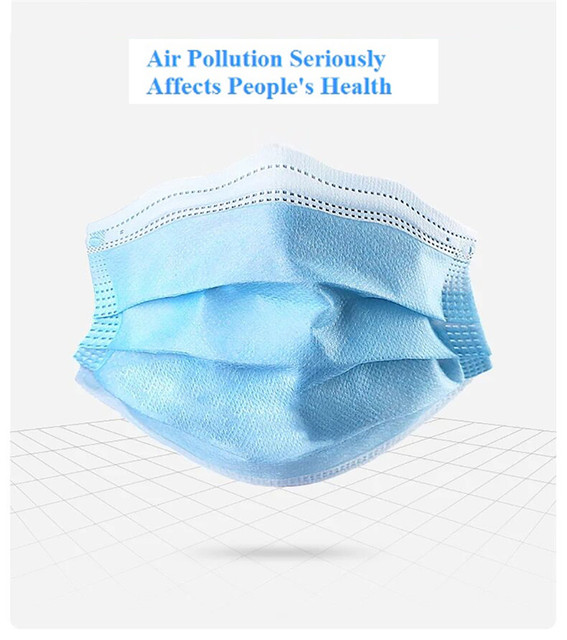 100 Pces Children Non-woven Fabric Pollution Prevention Mask Kids Disposable Mouth Face Mask Anti-fog Anti-Flu Dustproof 2