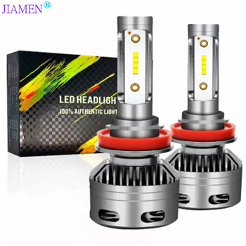 JIAMEN 2PCS 60W 6000LM 6000K H4 H1 H3 Turbo LED Car Headlight H7 H8 H9 H11 H27/880/881 9005 HB3 9006 HB4 9007 Led Fog Light Bulb