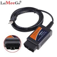 ELM327 USB V1.5 OBD2 Diagnostic Cable PIC18F25K80 Best Quality  Chip ELM 327 Hardware V1.5 OBD II Scanner ELM 327 USB 25K80|Code Readers & Scan Tools| |  -