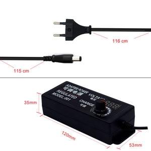 Image 4 - Fonte de alimentação regulada da tensão da tela adatpor 24 v 1 a 4/8 adaptador de alimentação ajustável da tela do diodo emissor de luz ac para dc 9 v 24 v universal