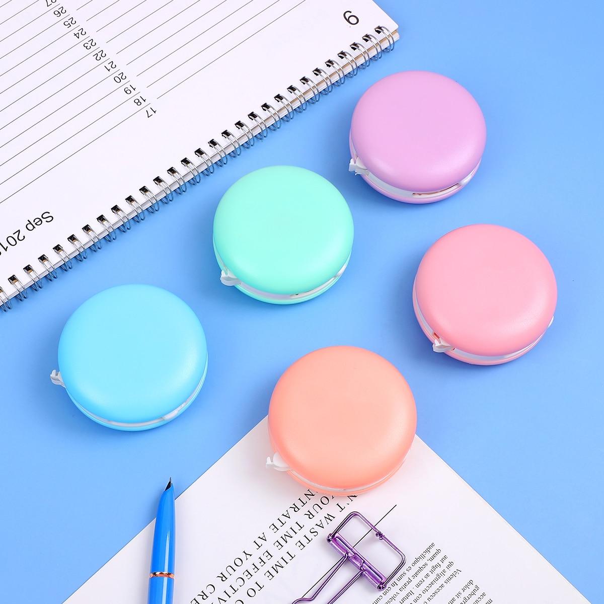 1pc Korean Kawaii Macaron Decoration Correction Tape Corrector Escolar Correcting Eraser Kids Student School Office Supplies
