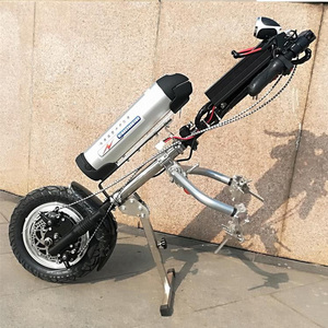Image 2 - 48v 500w Sports Model Wheelchair Electric Handcycle Folding Wheelchair Attachment Hand Cycle Bike WheelChair Conversion Kits