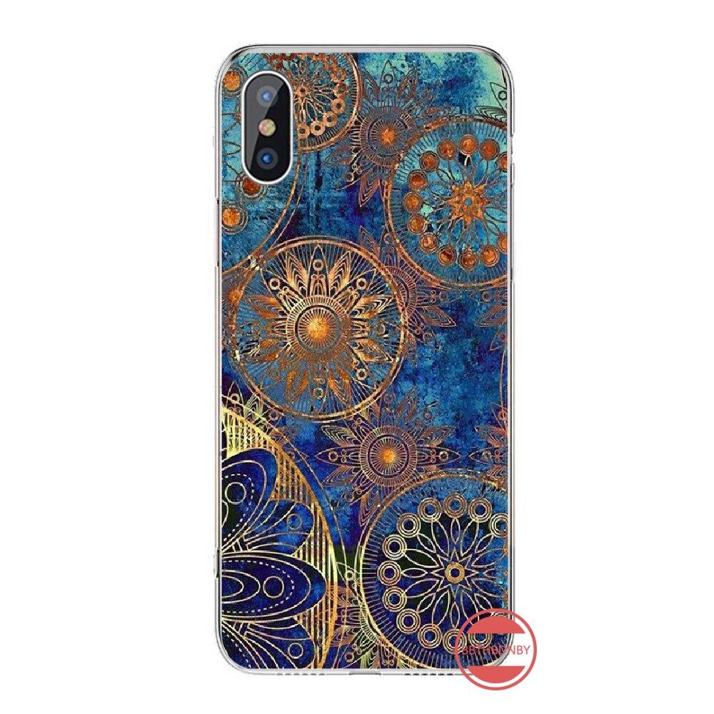 Mandalas หรูหราผู้ถือบรรเทา Exotic Luxury capaDesign โทรศัพท์สำหรับ iPhone 4 4S 5 5S 5C SE 6 6 S 7 8 PLUS x XS XR 11 pro MAX