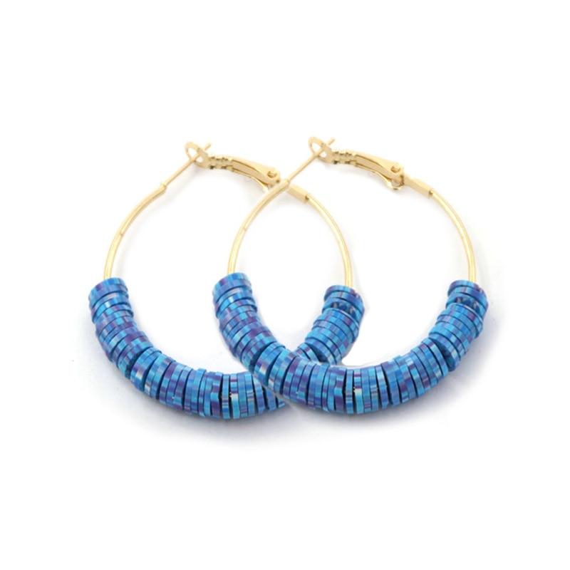 Oorbellen 22 color clay hoop earrings For woman C-shaped earrings Japan and Korea fashion jewelry female gifts jewelry 2020