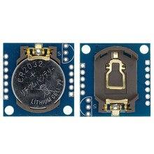 1 pçs i2c rtc ds1307 at24c32 módulo de relógio em tempo real para avr arm pic minúsculos módulos rtc i2c memória ds1307 relógio