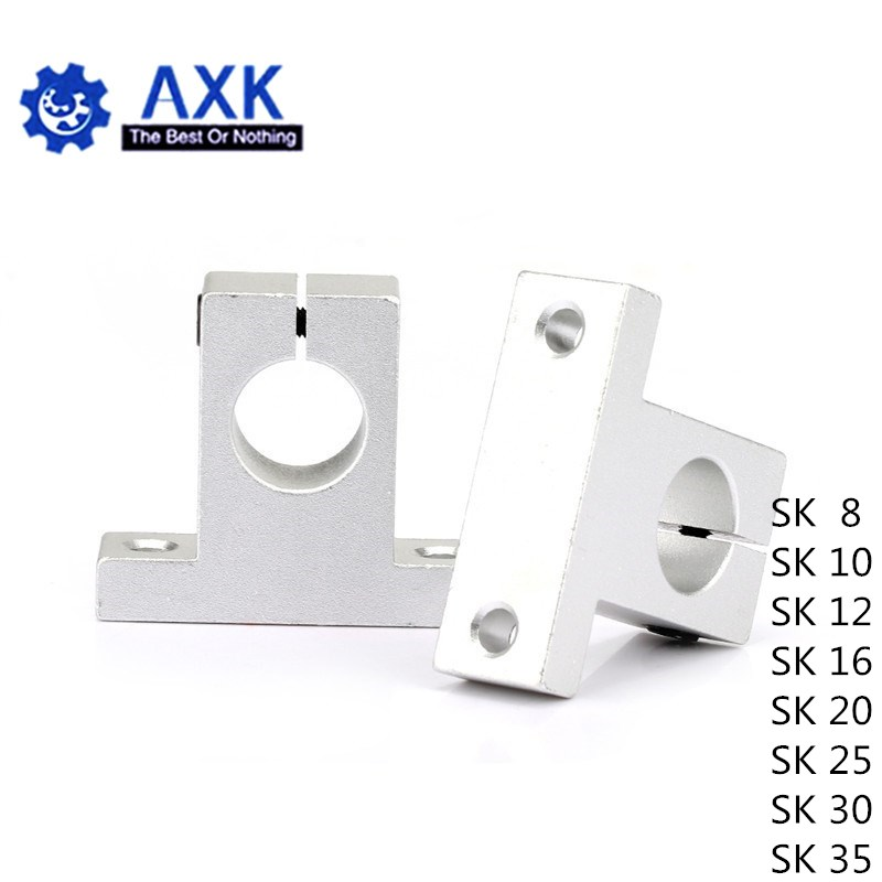 Metal Linear Rail Shaft Support Unit FOR XYZ Table CNC Route 2 PCS SK10 10mm
