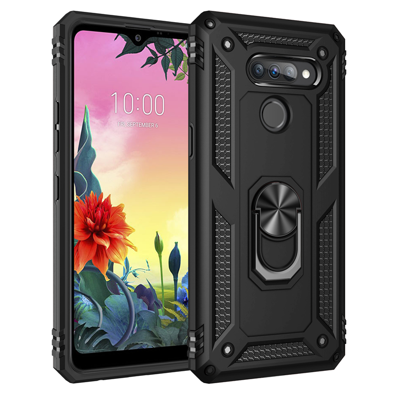 Anti-Knock Dual Layer Fitted Case For LG K50S Q51 K51 Stylo 6 5 K30 K40 K50 X4 Plus Aristo 4 3 2 Finger Ring Kickstand Cover