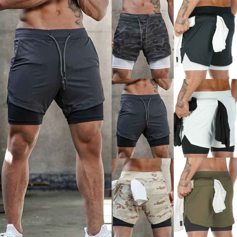 2020 Zomer Heren Casual Broek Gym Training Shorts Workout Sport Fitness Mannen Bekleed Running Shorts Trekkoord Camo Shorts