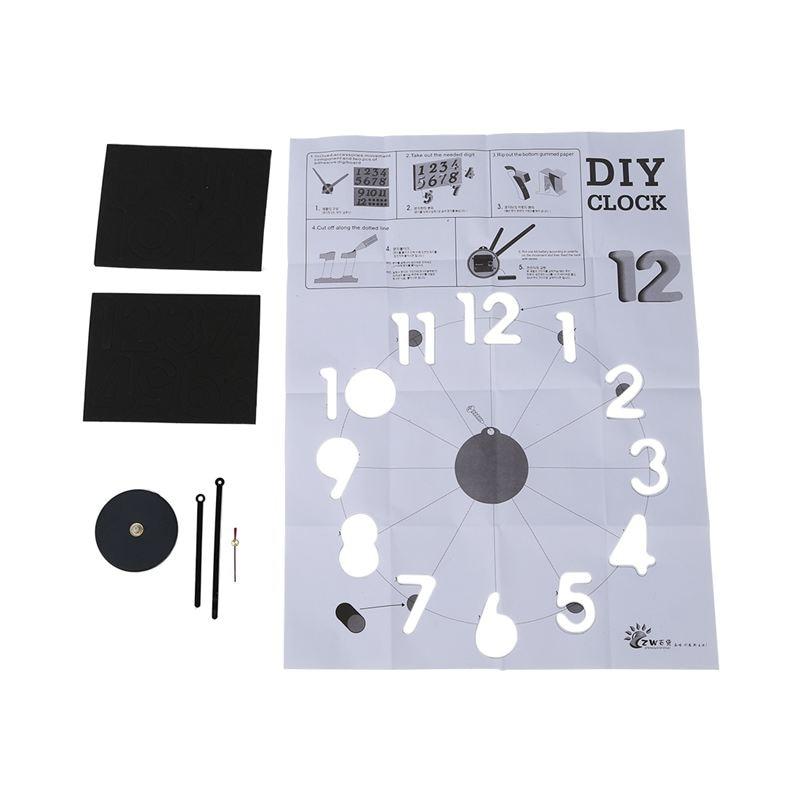 Promotion! Adhesive Wall Clock Movement + Number Of Saudi DIY Black