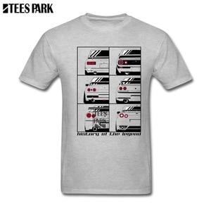 Vintage Style  JDM History Of The Legend Men T Shirts Teenage 100% Cotton Short Sleeve T Shirt Oversize Style Men Best Deals