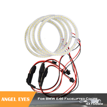 4x106mm SMD Angel Eyes Halo ring headlight kits for BMW 3-Series E46 Facelifted Coupe 2004-2006 Car styling white lamp цена 2017
