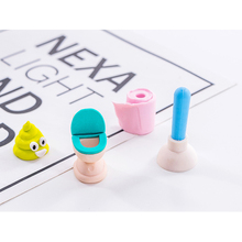 4pcs/set Kids Gifts Play Bathroom Series Rubber Random Students Stationery School Office Correction Supplies
