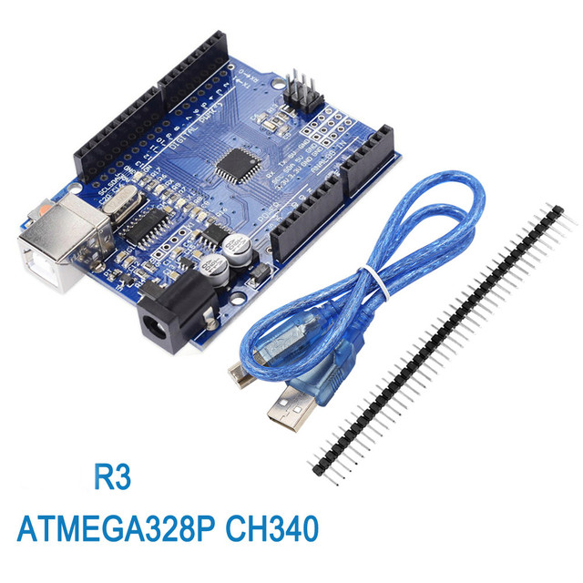 10pcs עבור UNO R3 פיתוח לוח ATmega328P CH340 CH340G עבור Arduino R3 עם ישר פינים