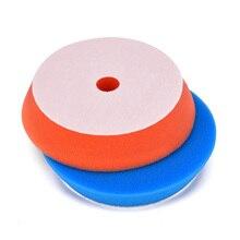 цена на 5Pcs 6inch Flat Sponge Buff Buffing Pad Waxing Polishing Pad Kit Car Polisher F2