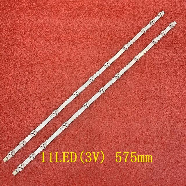 2 adet/takım 11LED LED arka ışık şeridi Sharp LC32LD145K 32W1333DB 32D1334DB LT 32C670 LT 32C666 LT 32C672 LT 32C690 LT 32C896
