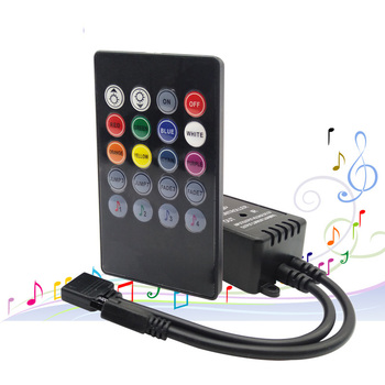 20 klawiszy muzyka czujnik głosu kontroler dźwięk pilot na podczerwień praktyczne strona główna RGB 3528 5050 taśmy LED światła kontrolery RGB tanie i dobre opinie Adiodo CN (pochodzenie) Music RGB remote controller IR RGB MUSIC CONTROLLER 5-10 meter Kontroler rgb Plastic 2 years 72W