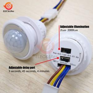 AC 85V-265V LED PIR Infrared Detector IR Infrared Motion Sensor Switch Adjustable Time Delay Switch for Home Lighting Induction(China)