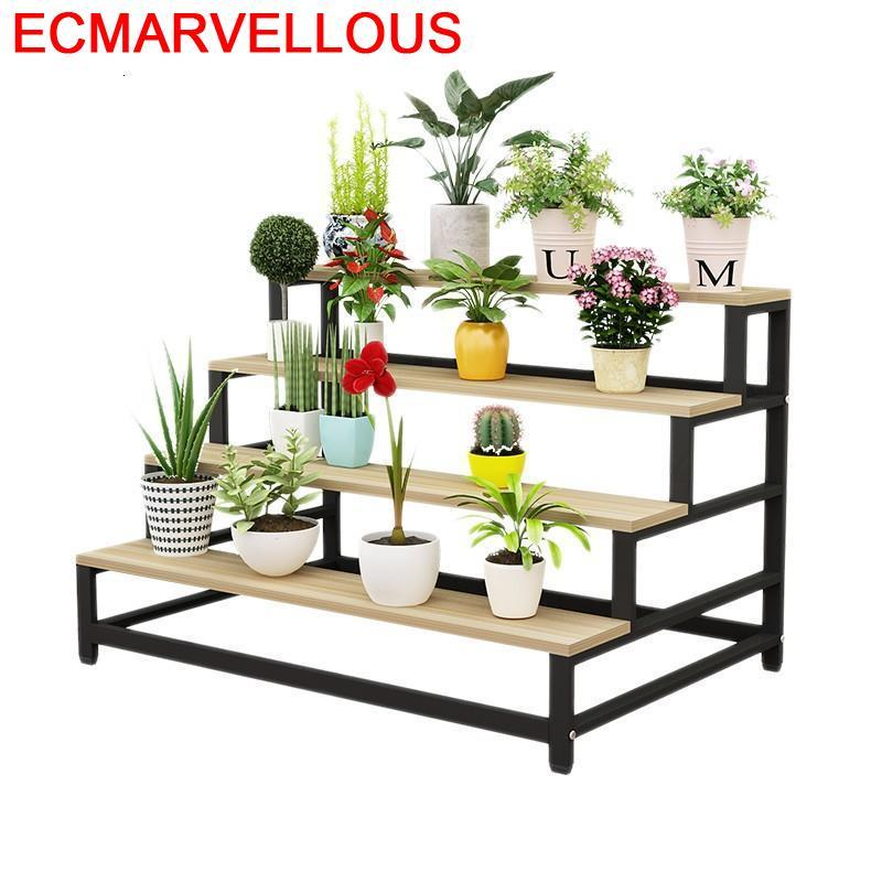 Wood Plantenstandaard Varanda Etagere Plante Pot Garden Shelves For Plantenrekken Balcony Shelf Rack Outdoor Flower Plant Stand