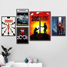 2001 przestrzeń Odyssey plakat na płótnie drukowany obraz dekoracje ścienne do domu
