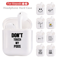 Crystal Cute Earphone Case For Apple AirPods Hard PC Transparent Protective Cover Airpods Accessories Charging Box
