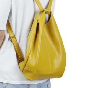 Image 5 - JOGUJOS torebka ze skóry naturalnej moda damska torba na ramię skórzane luksusowe damskie torby z bawełny dla kobiet torebki marki
