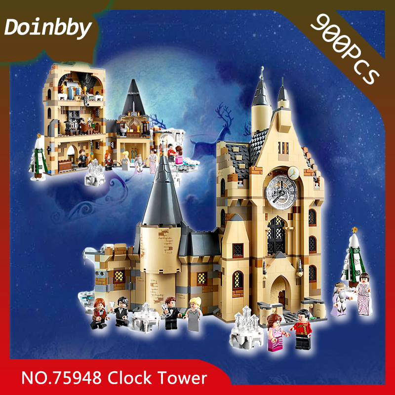 75948 900PCS Clock Tower Potter Movie Castle Set Building Blocks brick education toys child Christmas gift In stock image