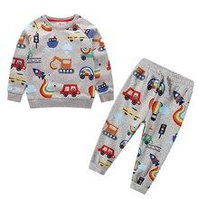 Комплекты одежды для маленьких мальчиков с мультяшным рисунком