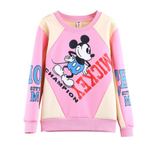 Girls Boys Sweatshirt Hoodies Kids Clothes Baby Toddler Mickey Pullover Autumn Winter Warm Long Sleeve Sweater Children Clothing