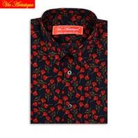 custom tailored women Men bespoke dress shirts business casual wedding blouse navy red floral cotton UK LIBERTY tailorsuit