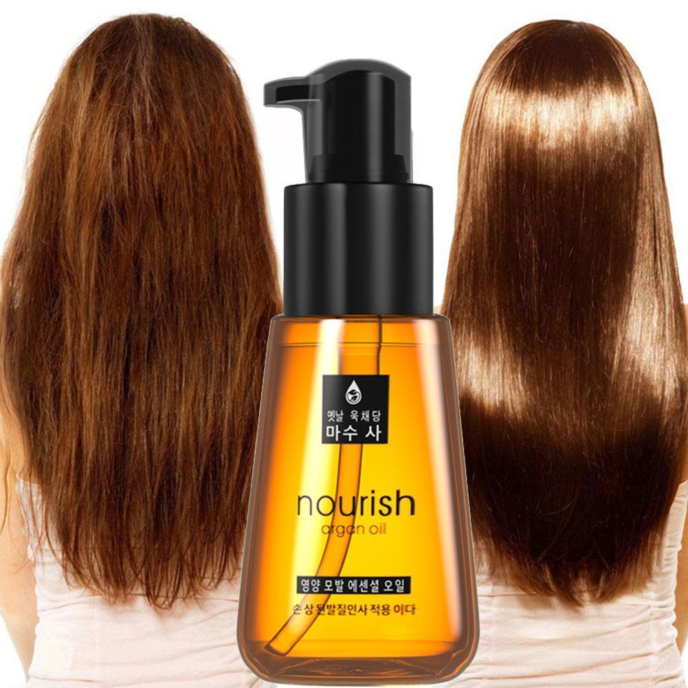 Argan Oil Hair Conditioners For Ladies Care Essence Repair Hair Oil Nourishing Split Improve Smooth Damaged Hair Rough M1C0