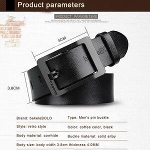 Image 5 - Cinturones de diseñador para hombre, cinturones casuales de alta calidad, Estilo Vintage, de cuero genuino, 8868