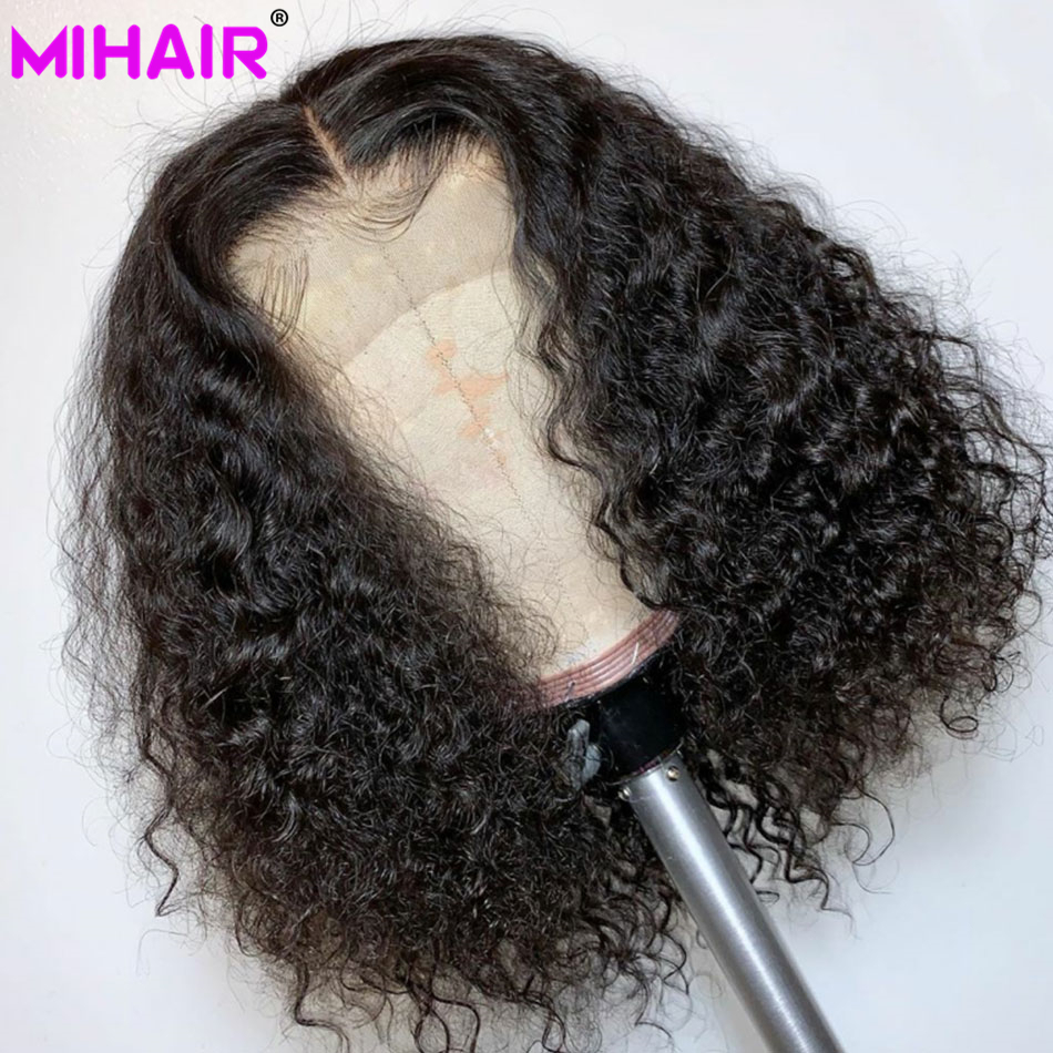 Bob Lace Front Wigs For Black Women Remy Lace Front Wig Curly Bob Lace Frontal Wig Indian Curly Short Human Hair Wigs 150%
