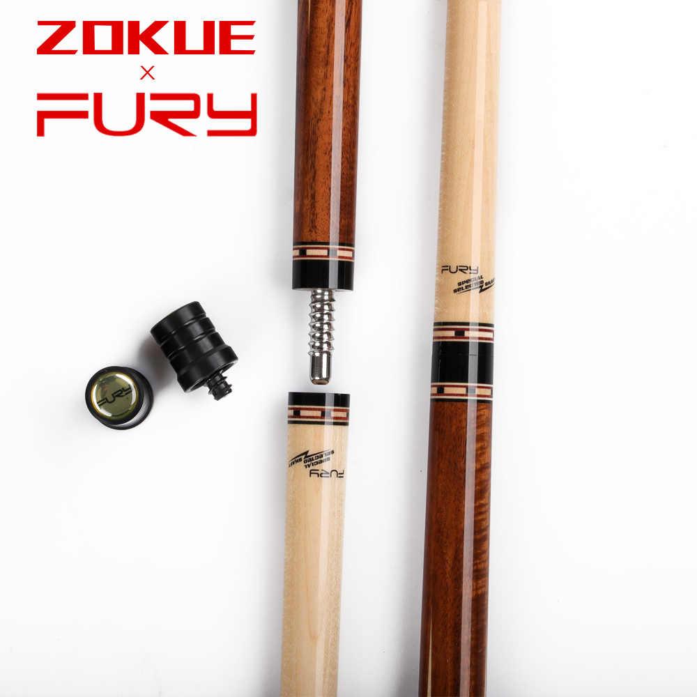 Fury Zokue Carambole Keu 3 Kussen Game Keu Professionele Carambole Biljart Cue Koreaanse Taper 11.8 Mm Tip Geselecteerde Canadese maple
