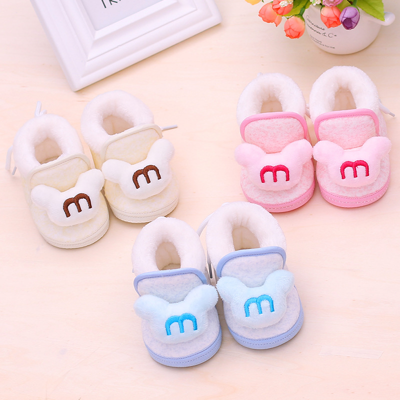 Warm Newborn Baby Toddler Boots Winter First Walkers Baby Girls Boys Shoes Soft Sole Fur Snow Booties For 0-18M