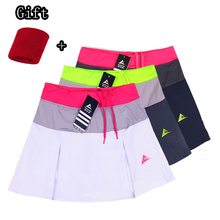 Женские теннисные юбки, теннисные юбки с шортами для девочек, дышащие женские юбки для бадминтона с карманами, спортивные шорты для девочек