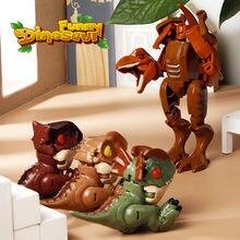 Милый Парк Юрского Периода Динозавры деформация меха Робот Игрушки